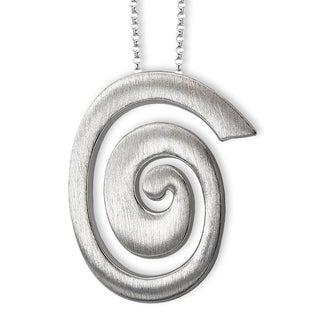 Avanti Sterling Silver Swirl Design Necklace
