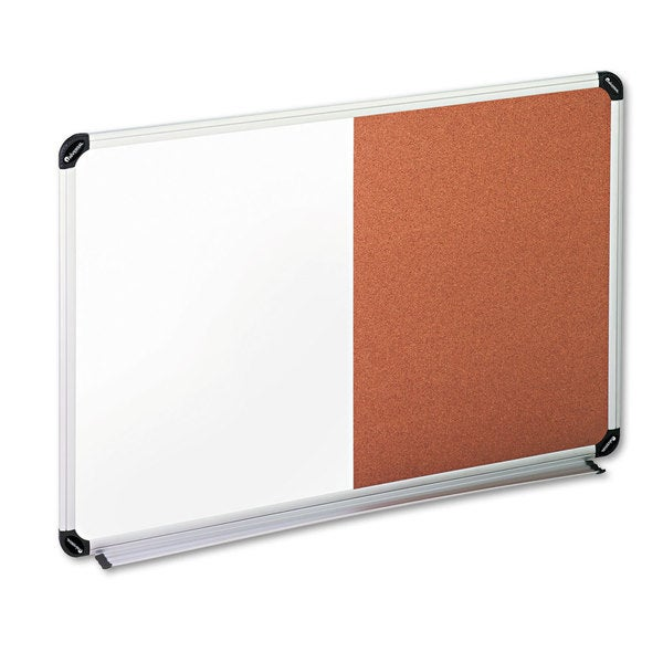 Universal Black/Gray Cork/Dry Erase Board