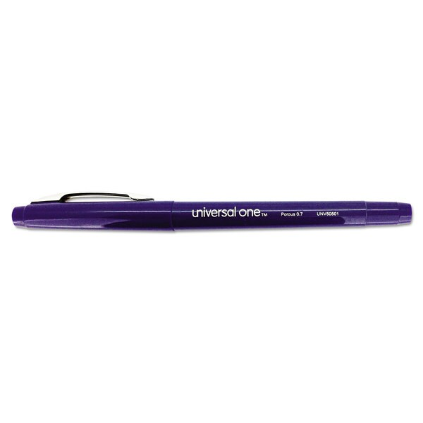 Universal One Blue Ink Roller Ball Porous Tip Stick Pen (4 Packs of 12)