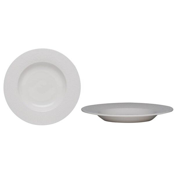 Lunar White 8.75-inch 10-ounce Soup Bowl (Set of 4)