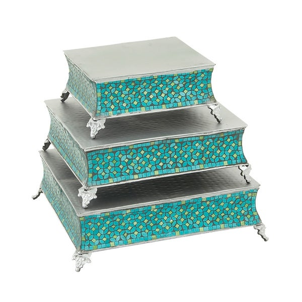 Royal Mosaic Metal Cake Stand (Set of 3)