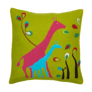 Felt Giraffe Decorative Pillow
