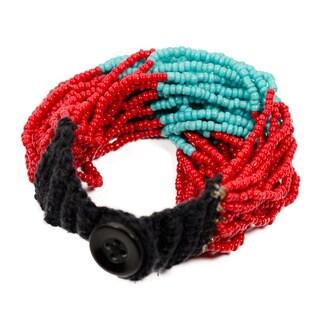 Izta Red Multi-strand Wrap Bracelet (India)