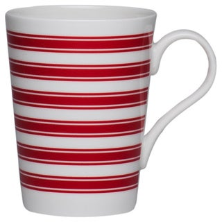 Race Stripe Red Conical 10-ounce Mug (Set of 4)