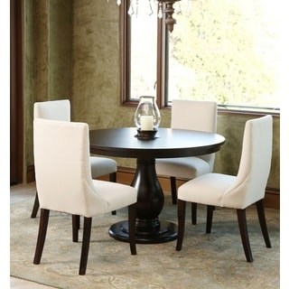 Abbyson Living Ibiza 5-piece Round Wood Espresso Dining Set