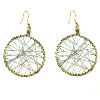Mesh Recycled Wire Earrings (India)
