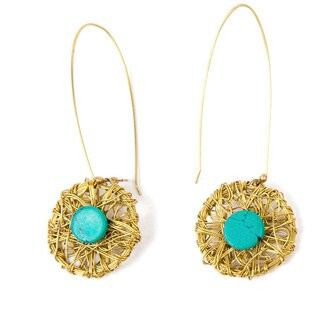 Turquoise Nest Dangle Earrings (India)