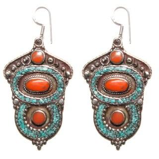 Elegant Tribal Style Earrings (Nepal)