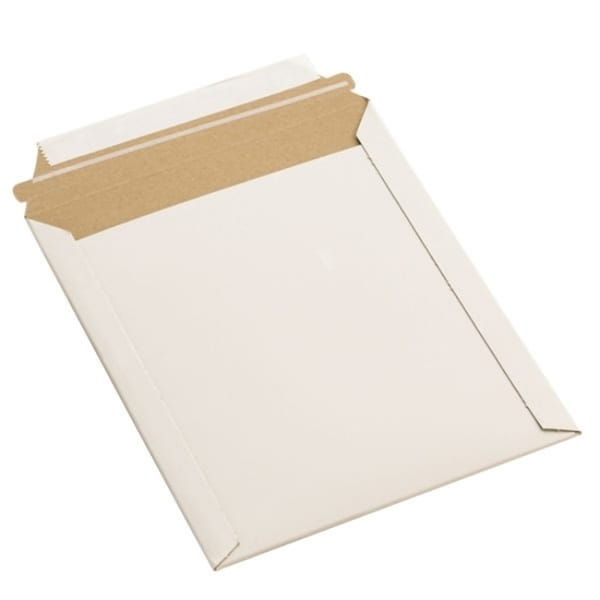 White Self-Seal Stay Flats Chipboard Mailers (Set of 100)
