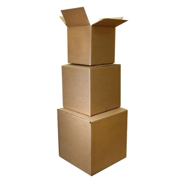 Corrugated Cube Shipping Boxes (Set of 25)