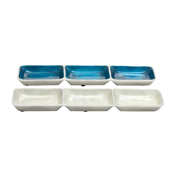 Exquisite Aluminum Section Tray (Set of 2)