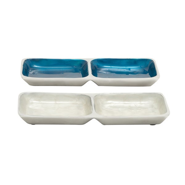 Versatile Aluminum Section Tray (Set of 2)