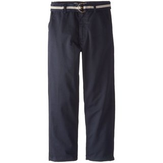 Eddie Bauer Big Boys' Twill Pant with Belt