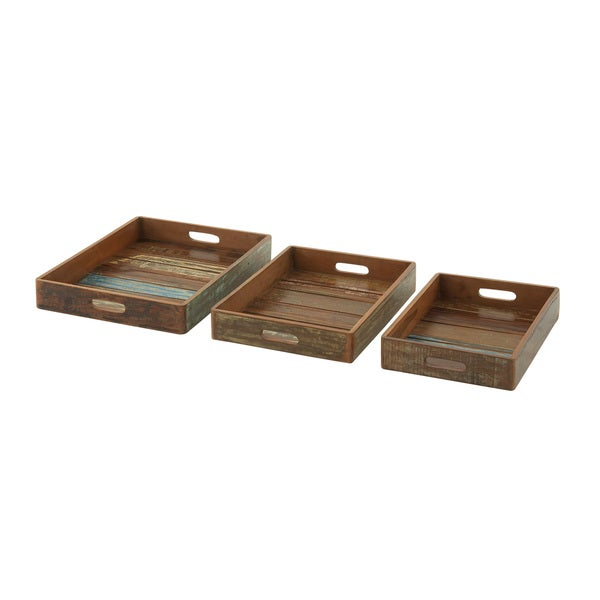 Superb Wooden Trays (Set of 3)
