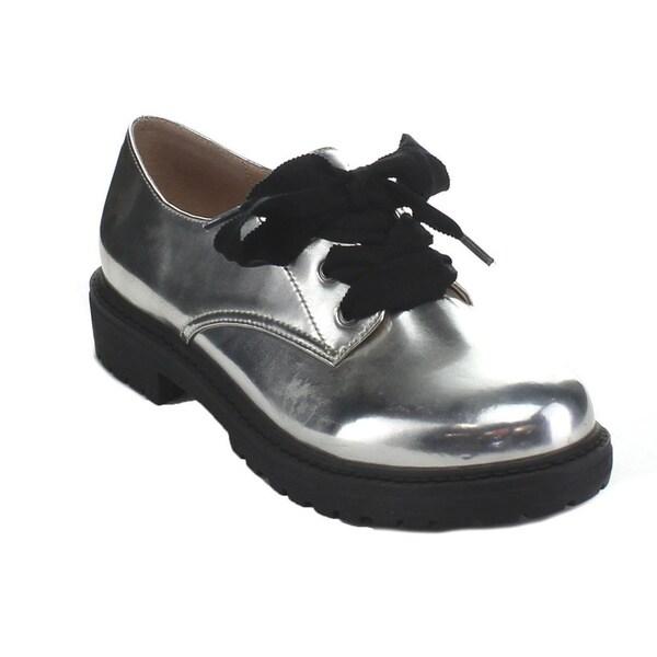 C-Label Women's Rosalyn-1 Lace-up Lug Sole Oxford Shoes