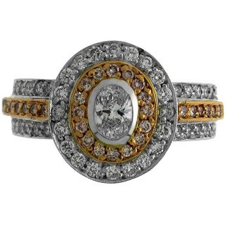18k Two-tone Gold 1ct TDW Diamond Fashion Ring (G-H, SI1-SI2)