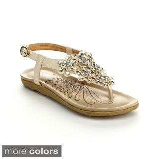 Via Pinky Women's Faye-16 Open Toe Rhinestone Sandals