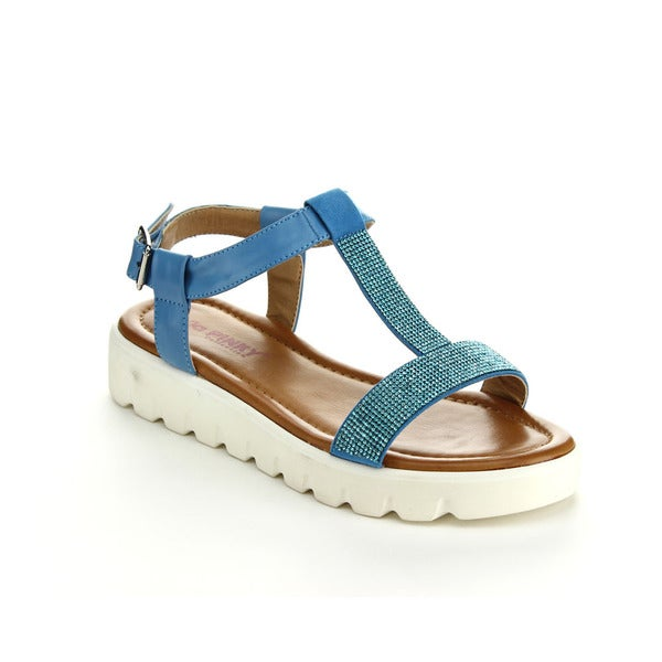 Via Pinky Women's Fallon-08 Sparkly Open Toe T-strap Sandals
