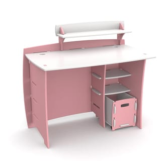Legare Kids Furniture Pink/ White 43-inch Complete Desk System with File Cart