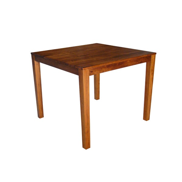 Somette Solid Maple Wood Rectangle Drop Leaf Table
