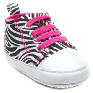 BLUE Baby 'P-Zebra' Animal Print Shoes