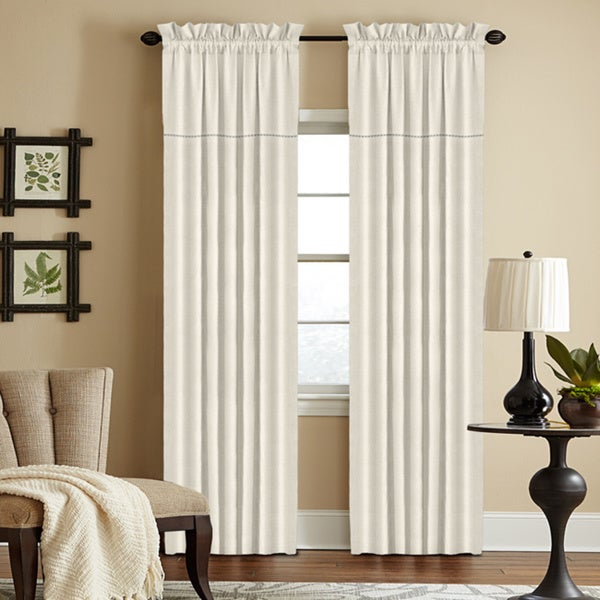 Grand Luxe 100-percent Linen York Rod Pocket Window Collection