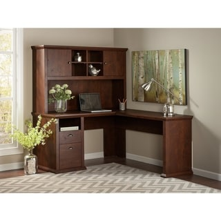 Cappuccino L Shaped Desk 13863249 Overstock Com