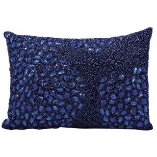 Mina Victory by Nourison Luminecence Navy Pillow 10x14- inch Throw Pillow