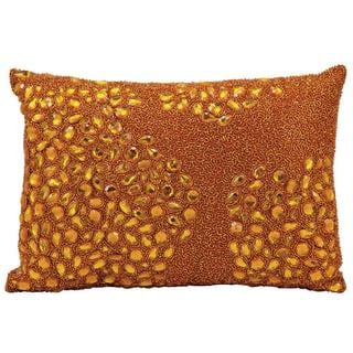 Mina Victory by Nourison Luminecence Orange Pillow 10x14- inch Throw Pillow