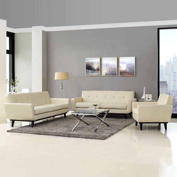 absorb 3 piece leather living room set 17281868