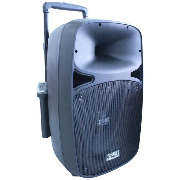 Absolute 2000W 12-inch Bluetooth Speaker with 2 Wireless Microphones and Remote Control