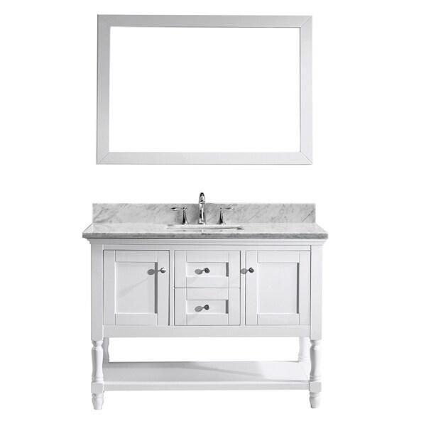 Http Overstock Com Home Garden Julianna 48 Inch Single Bathroom Vanity Cabinet Set In White 10152410 Product Html