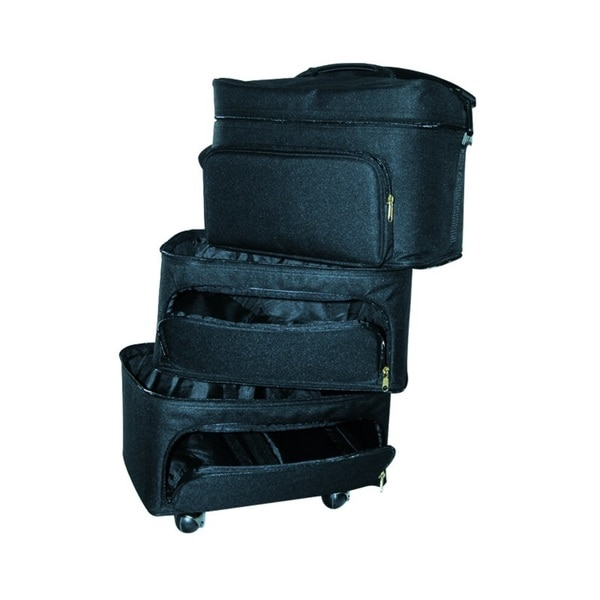 City Lights Extra Large 3-Compartment Soft Case on Wheels
