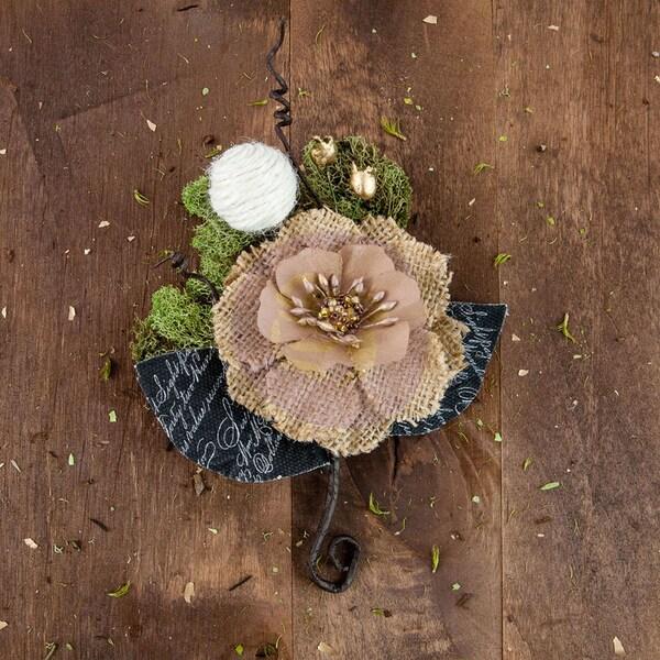 Sylvan Canvas & Burlap Flower StemEspen