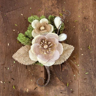 Sylvan Canvas & Burlap Flower StemBram