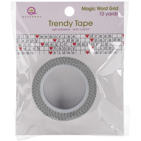Magic Trendy Tape 15mm X 10ydsWord Grid