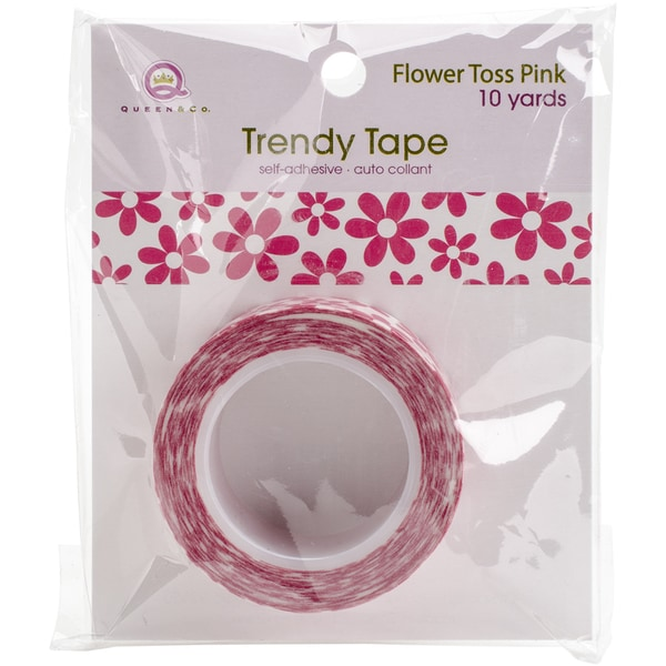 Queen & Co. Trendy TapeFlower Toss Pink