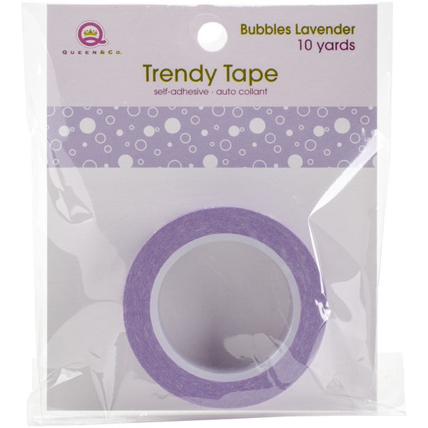 Queen & Co. Trendy TapeBubbles Lavender