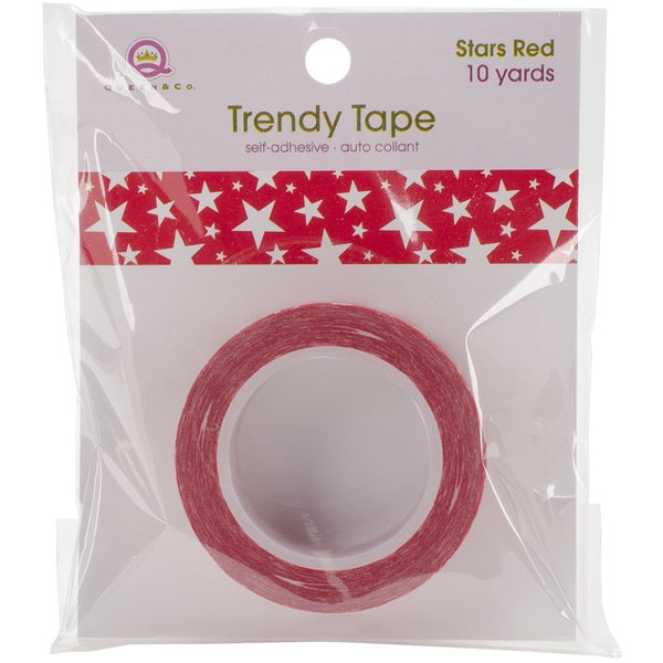 Queen & Co. Trendy TapeStars Red