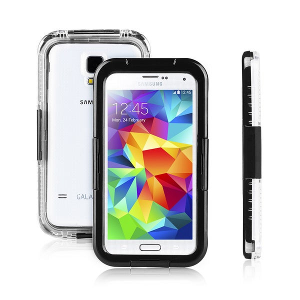 Patuoxun Premium Waterproof/ Shockproof/ Dirtproof/ Snowproof Black Case for Samsung Galaxy S5 I9600