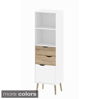 Diana White Oak 2-drawer 1-door Bookcase