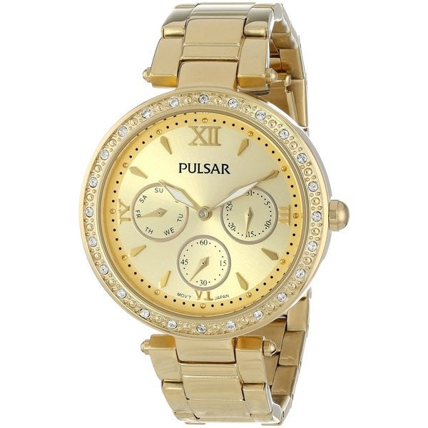 Pulsar Women's PP6106 Gold-Tone Stainless Steel Bracelet Watch