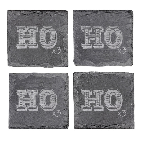 Ho Ho Ho Slate Coasters (Set of 4)