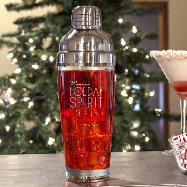 Mom's Holiday Spirit Cocktail Shaker