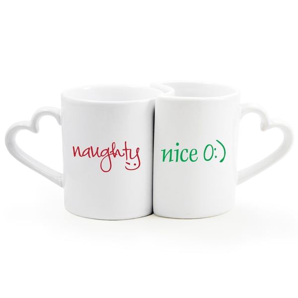 Naughty/ Nice Coffee Mug 2-piece Set