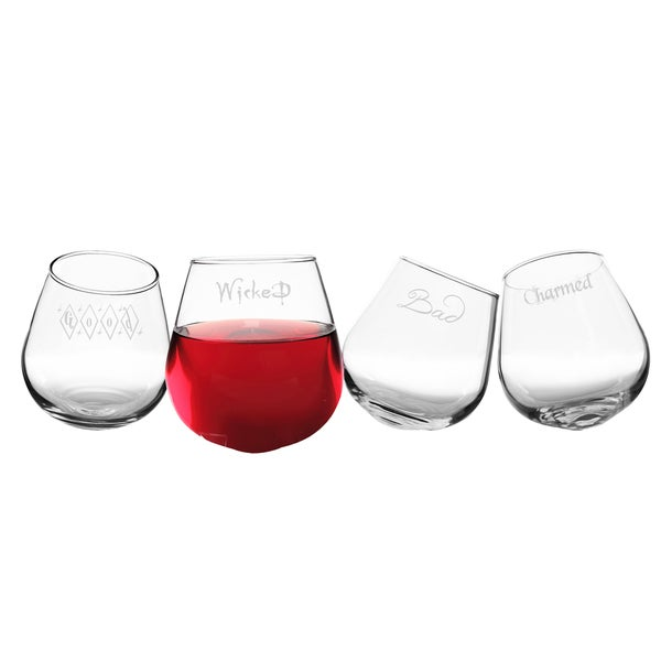 Witchy Woman Tipsy Wine Glasses (4)