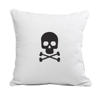 Crossbones Polyester 12-inch Throw Pillow