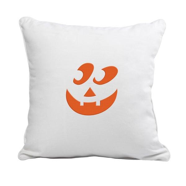 Jack-O'-Lantern Polyester 12-inch Throw Pillow