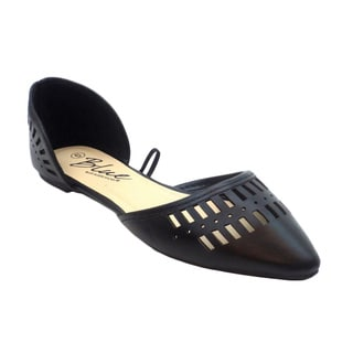 Blue Women's 'Unessa' Black Synthetic Leather Ballerina Flats