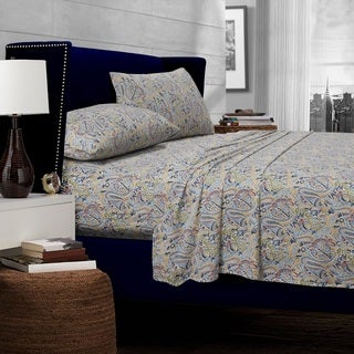 Fiji Multi-color Paisley Printed Egyptian Cotton Sheets 300 TC